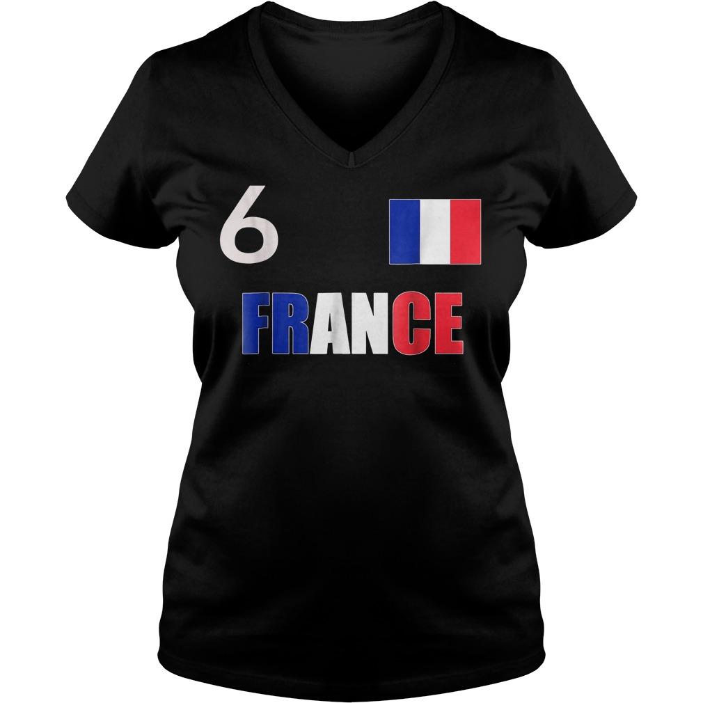 France Final Soccer World Cup 2018 T Shirt Ladies V Neck - France Final Soccer World Cup 2018 T-Shirt