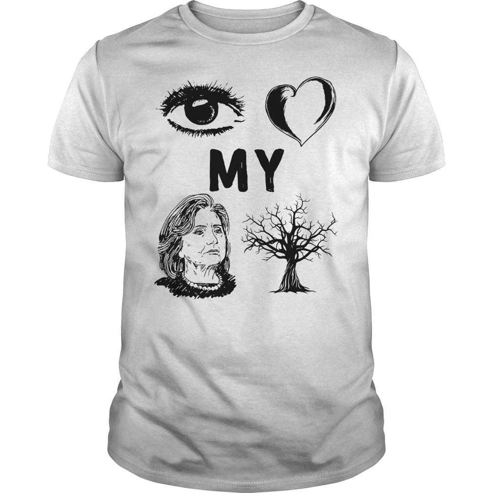 Hillary Clinton I Love My Country T Shirt Classic Guys Unisex Tee - Hillary Clinton I Love My Country T-Shirt