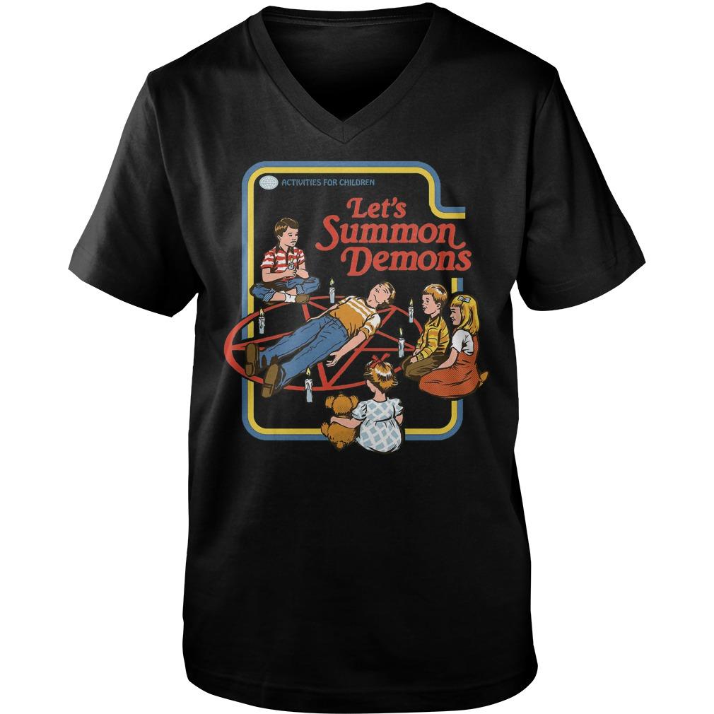 Let s Summon Demons T Shirt Guys V Neck - Let's Summon Demons T-Shirt