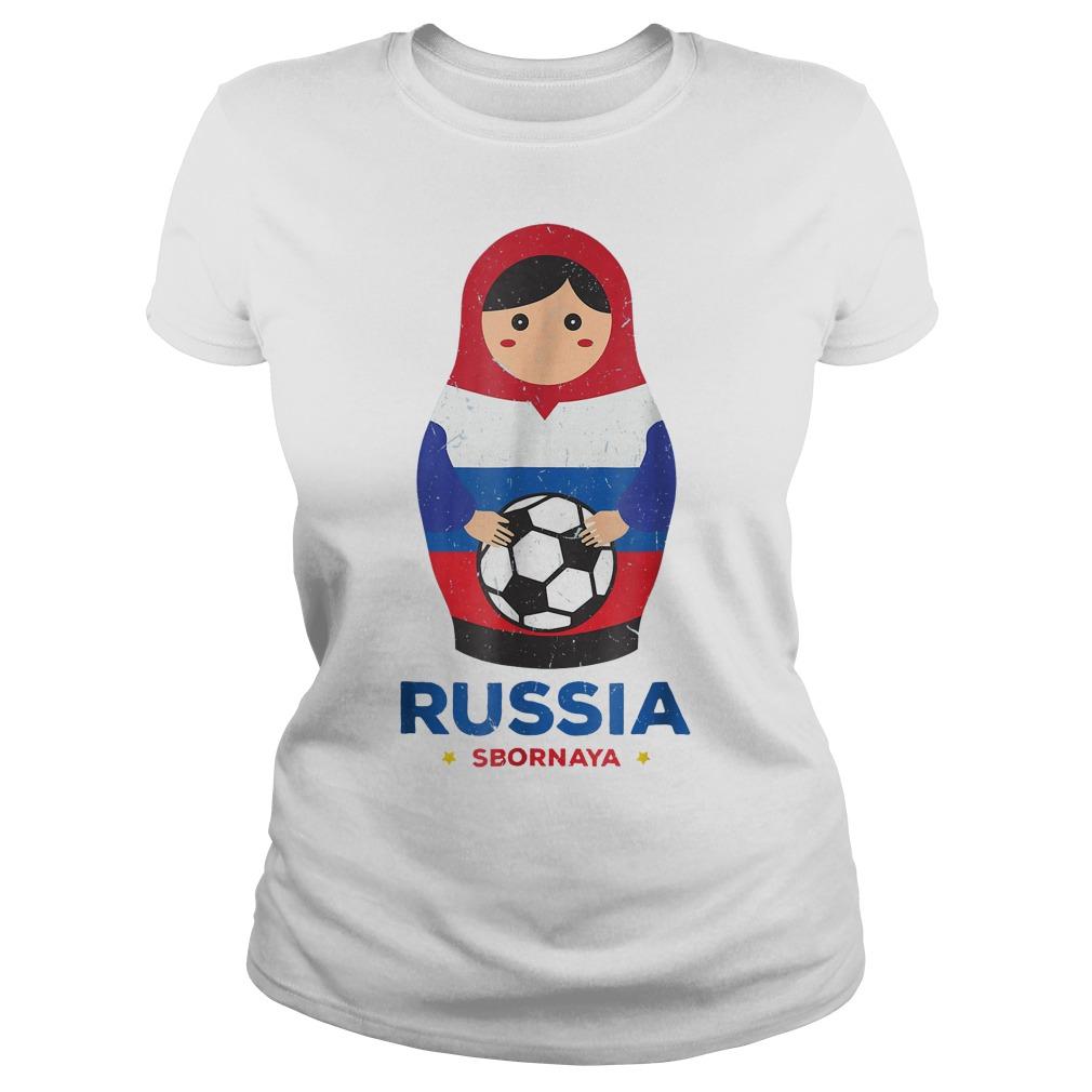 Matryoshka Russia Russian World Cup 2018 T Shirt Ladies Tee - Matryoshka Russia Russian World Cup 2018 T-Shirt