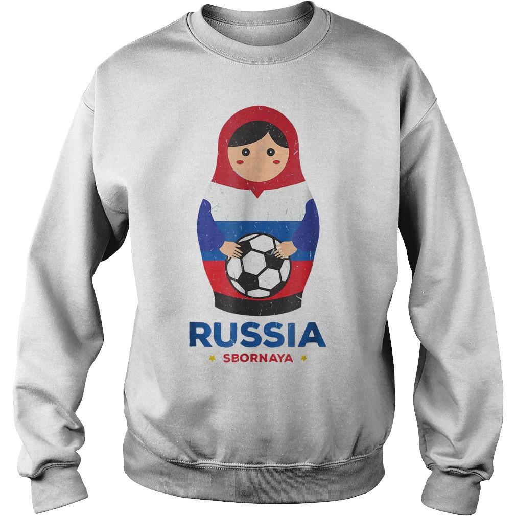 Matryoshka Russia Russian World Cup 2018 T Shirt Sweat Shirt - Matryoshka Russia Russian World Cup 2018 T-Shirt