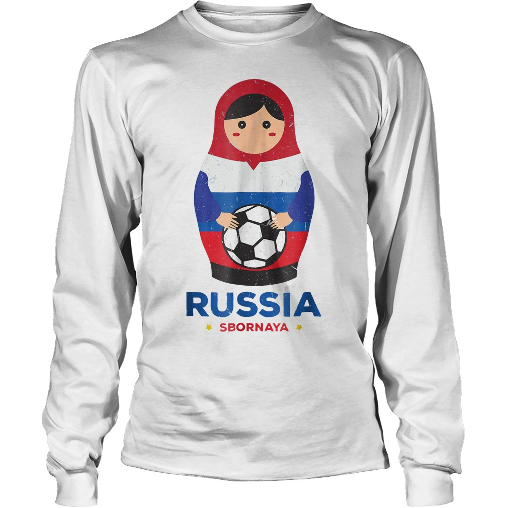 Matryoshka Russia Russian World Cup 2018 T Shirt Unisex Longsleeve Tee - Matryoshka Russia Russian World Cup 2018 T-Shirt