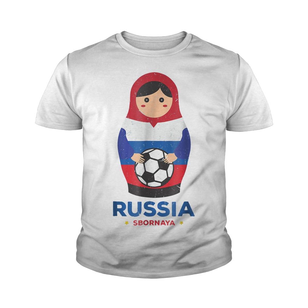 Matryoshka Russia Russian World Cup 2018 T Shirt Youth Tee - Matryoshka Russia Russian World Cup 2018 T-Shirt
