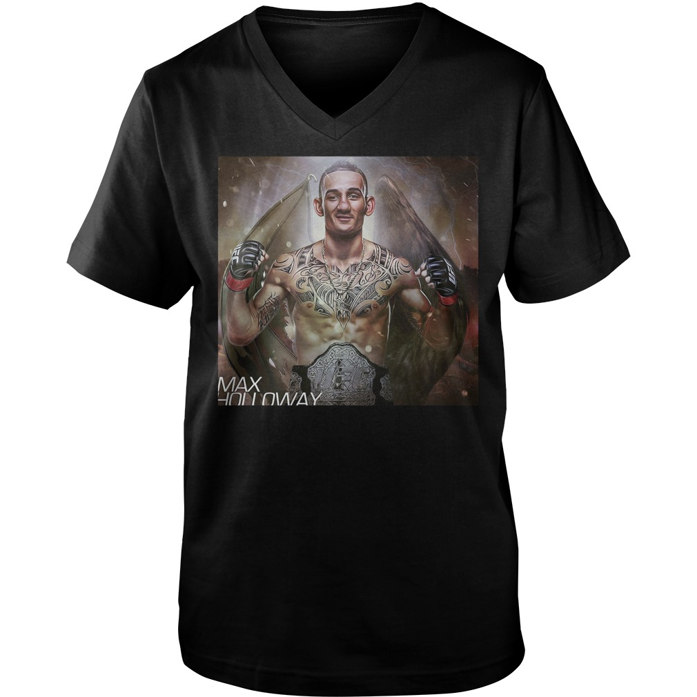 Max Holloway Ufc Fighter The Best Is Blessed T Shirt Guys V Neck - Max Holloway Ufc Fighter The Best Is Blessed T-Shirt