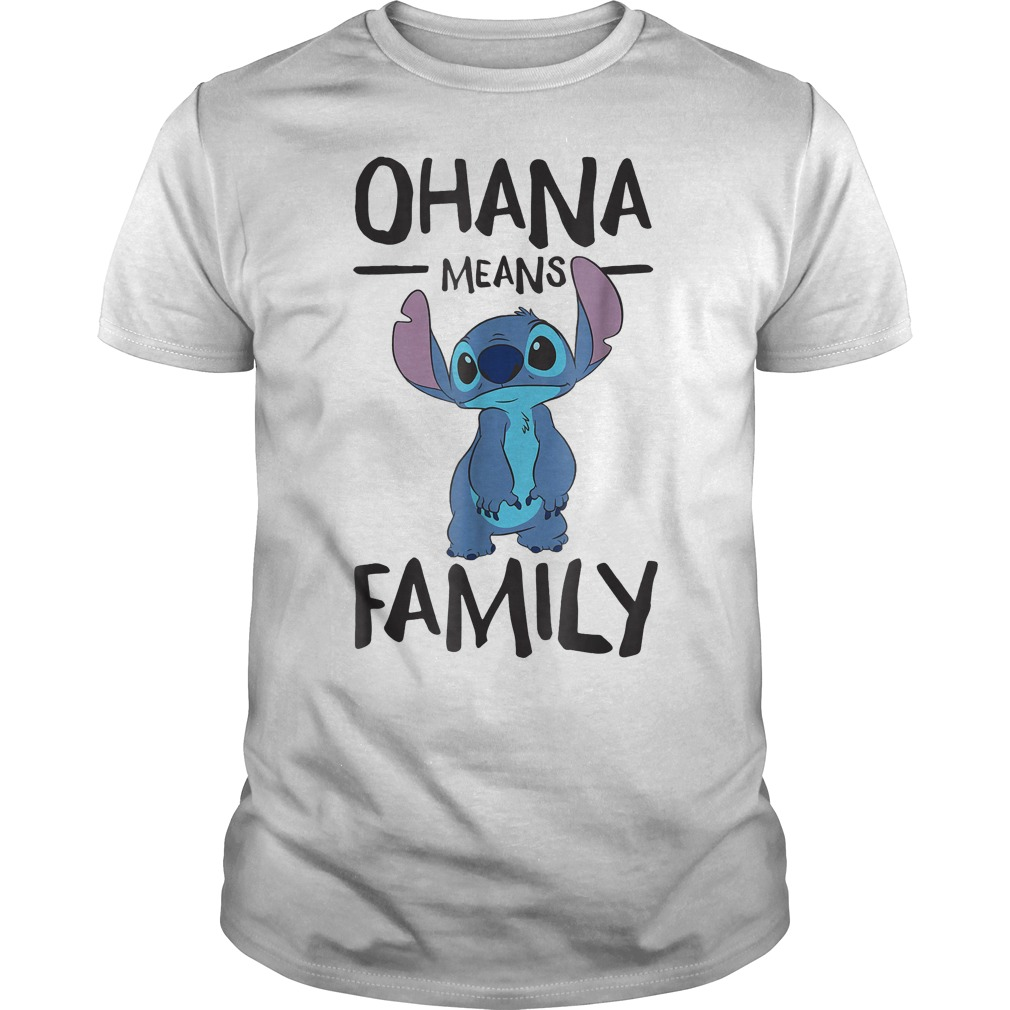 Official Disney Ohana Means Family Stitch T Shirt Classic Guys Unisex Tee - Official Disney Ohana Means Family Stitch T-Shirt