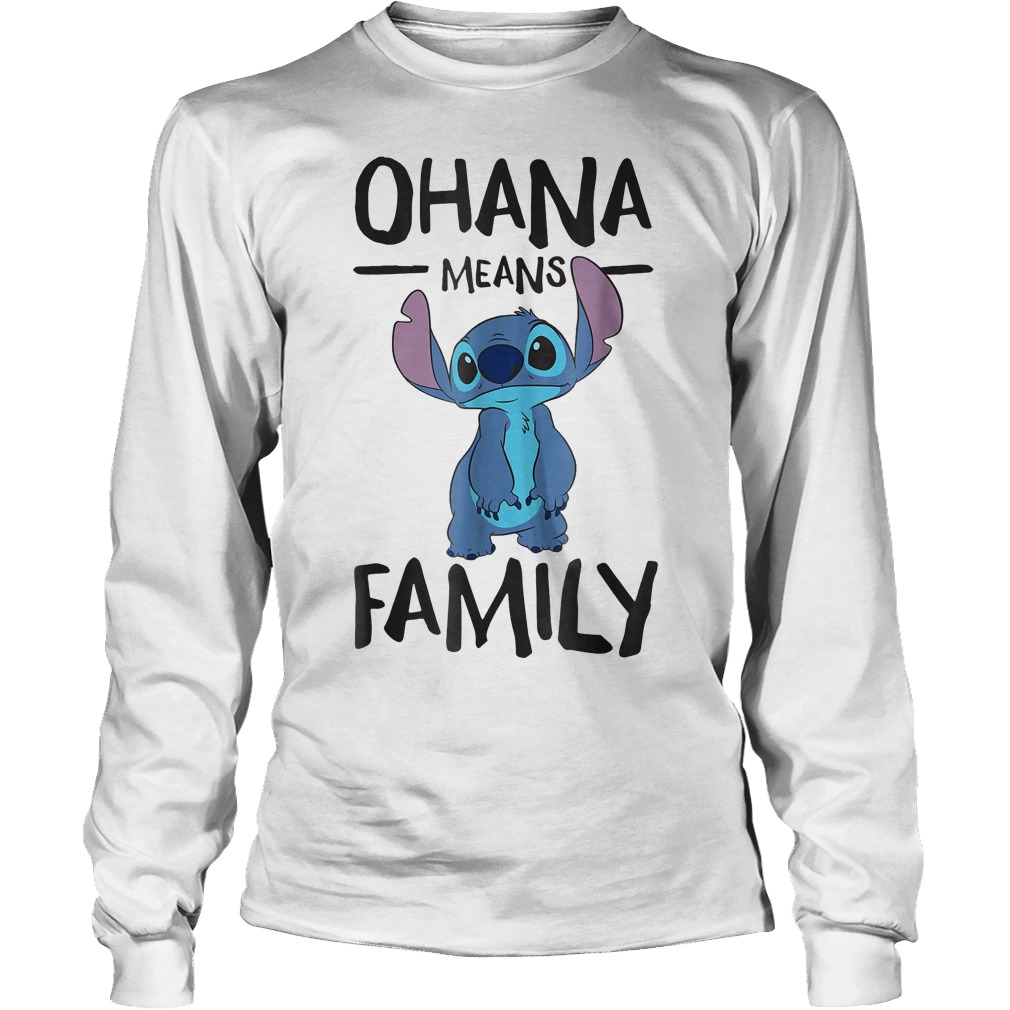 Official Disney Ohana Means Family Stitch T Shirt Longsleeve Tee Unisex - Official Disney Ohana Means Family Stitch T-Shirt