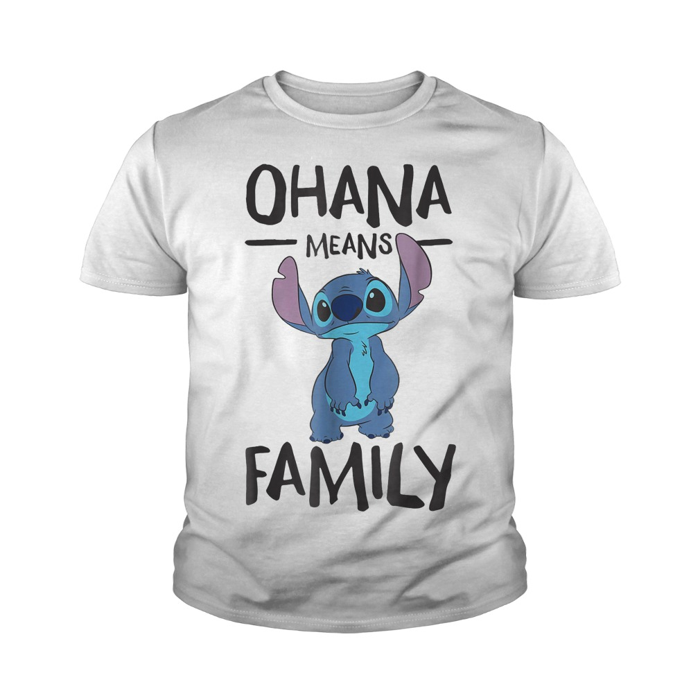 Official Disney Ohana Means Family Stitch T Shirt Youth Tee - Official Disney Ohana Means Family Stitch T-Shirt