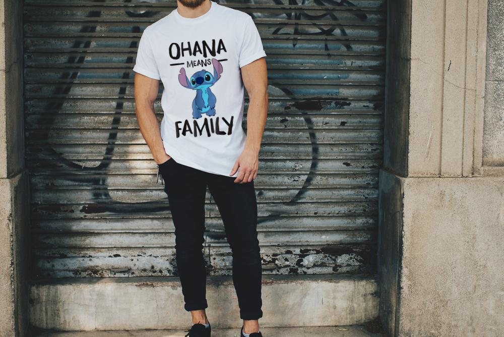 Official Disney Ohana Means Family Stitch T Shirt