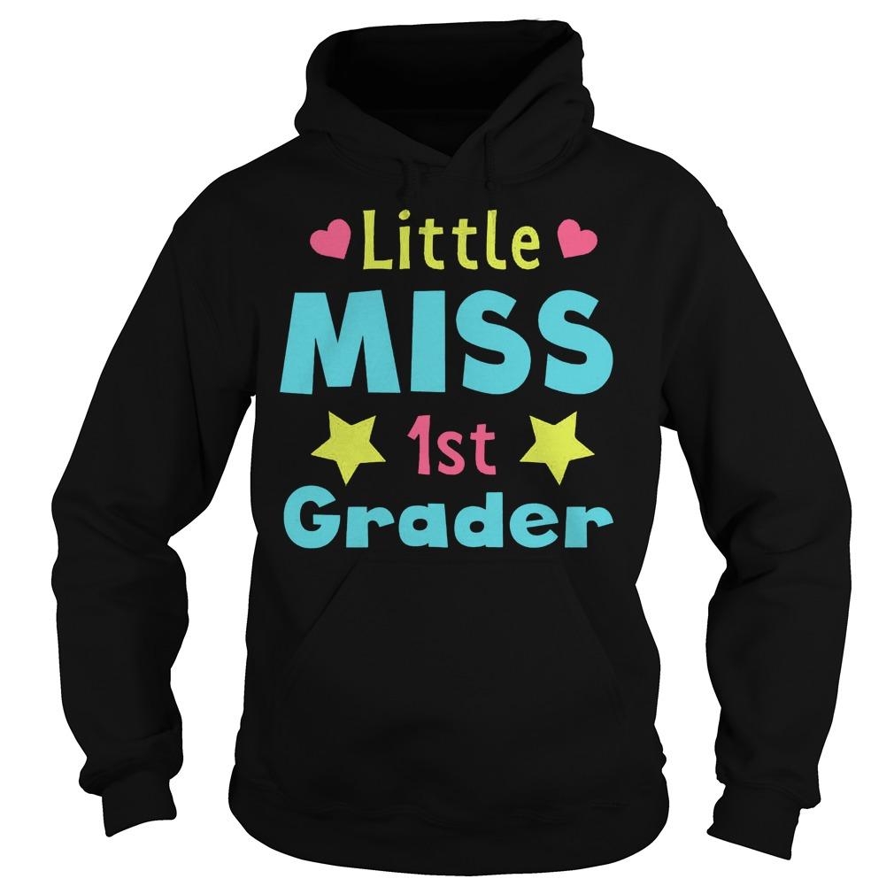 Premium Little Miss 1st Grader T Shirt Hoodie - Premium Little Miss 1st Grader T-Shirt