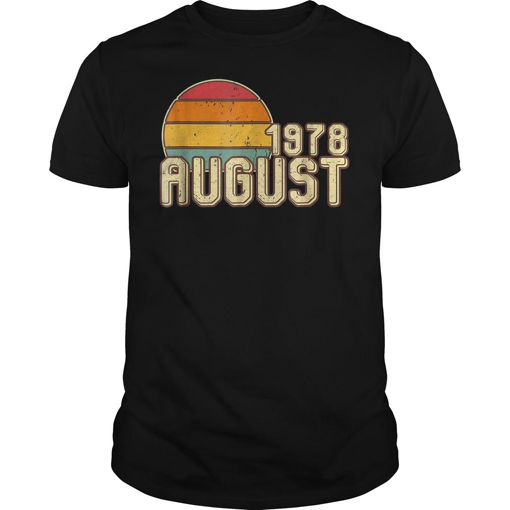 Premium Vintage August 1978 40th Birthday T Shirt Classic Guys Unisex Tee - Premium Vintage August 1978 - 40th Birthday T-Shirt