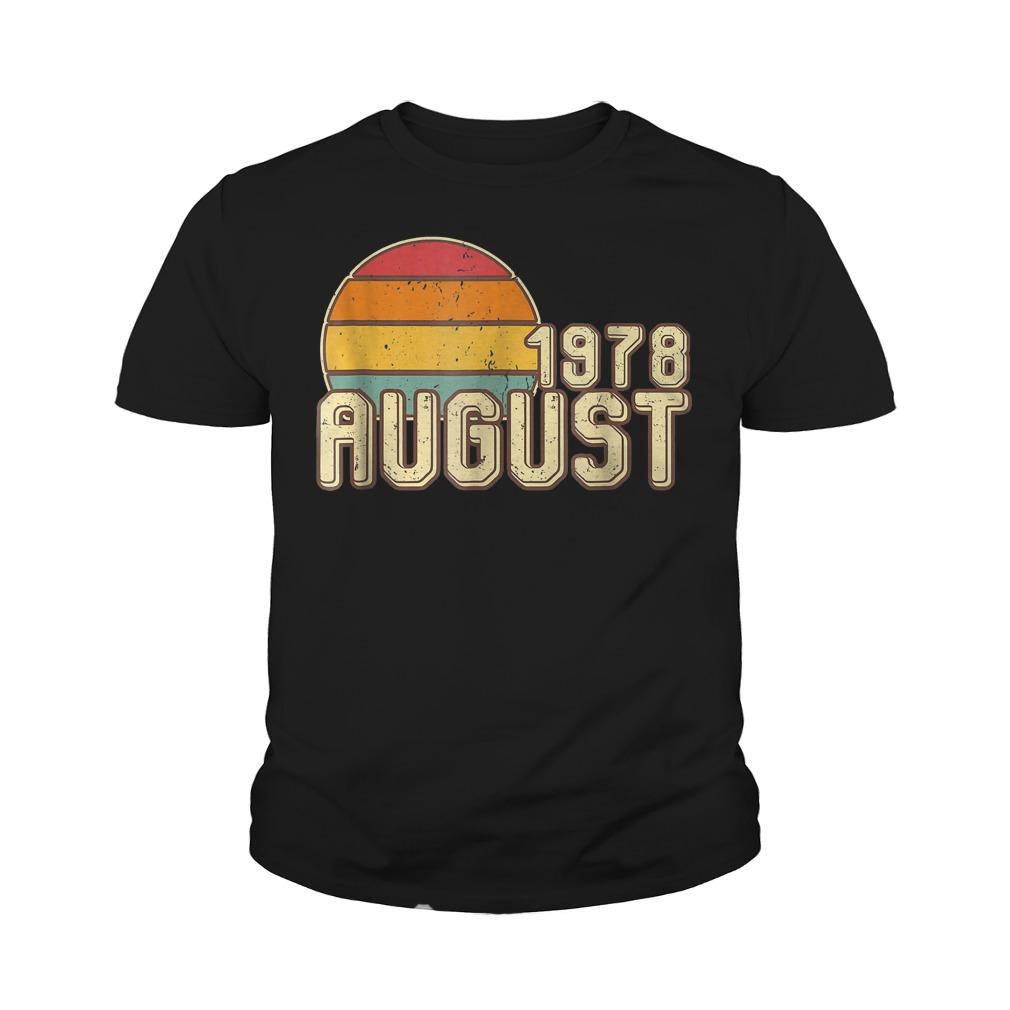 Premium Vintage August 1978 40th Birthday T Shirt Youth Tee - Premium Vintage August 1978 - 40th Birthday T-Shirt