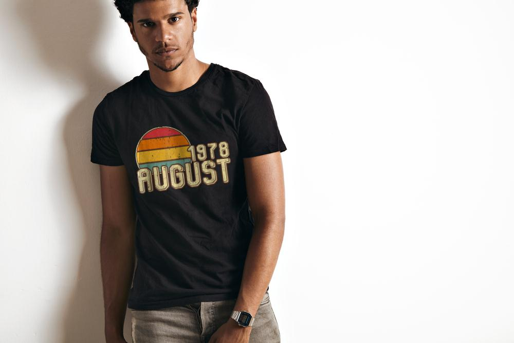 Premium Vintage August 1978 40th Birthday T Shirt