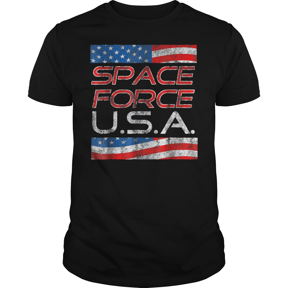 Space Force Vintage USA Trump Military Patriotic 2020 Guys Tee - Space Force Vintage USA Trump Military Patriotic 2020 T-Shirt