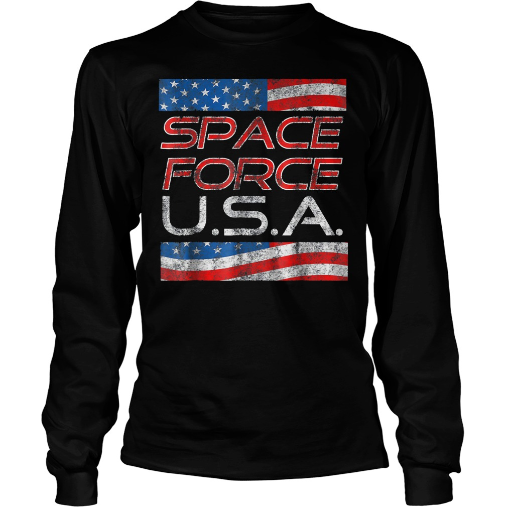 Space Force Vintage USA Trump Military Patriotic 2020 Unisex Longsleeve Tee - Space Force Vintage USA Trump Military Patriotic 2020 T-Shirt