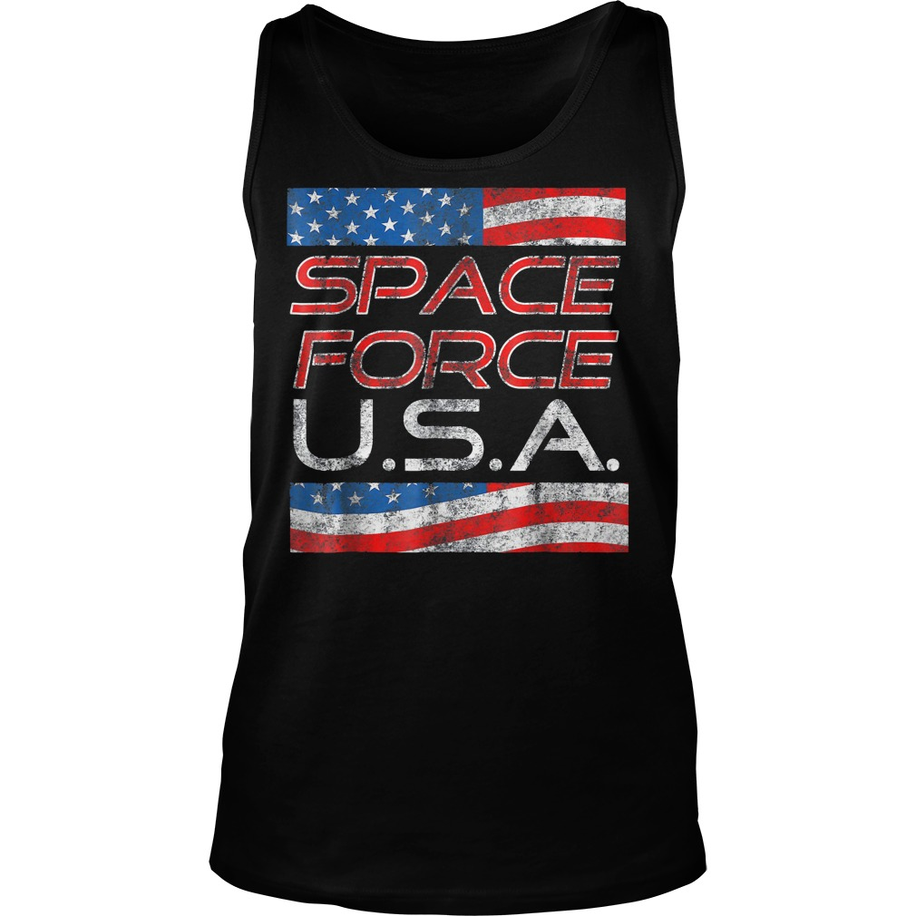 Space Force Vintage USA Trump Military Patriotic 2020 Unisex Tank Top - Space Force Vintage USA Trump Military Patriotic 2020 T-Shirt