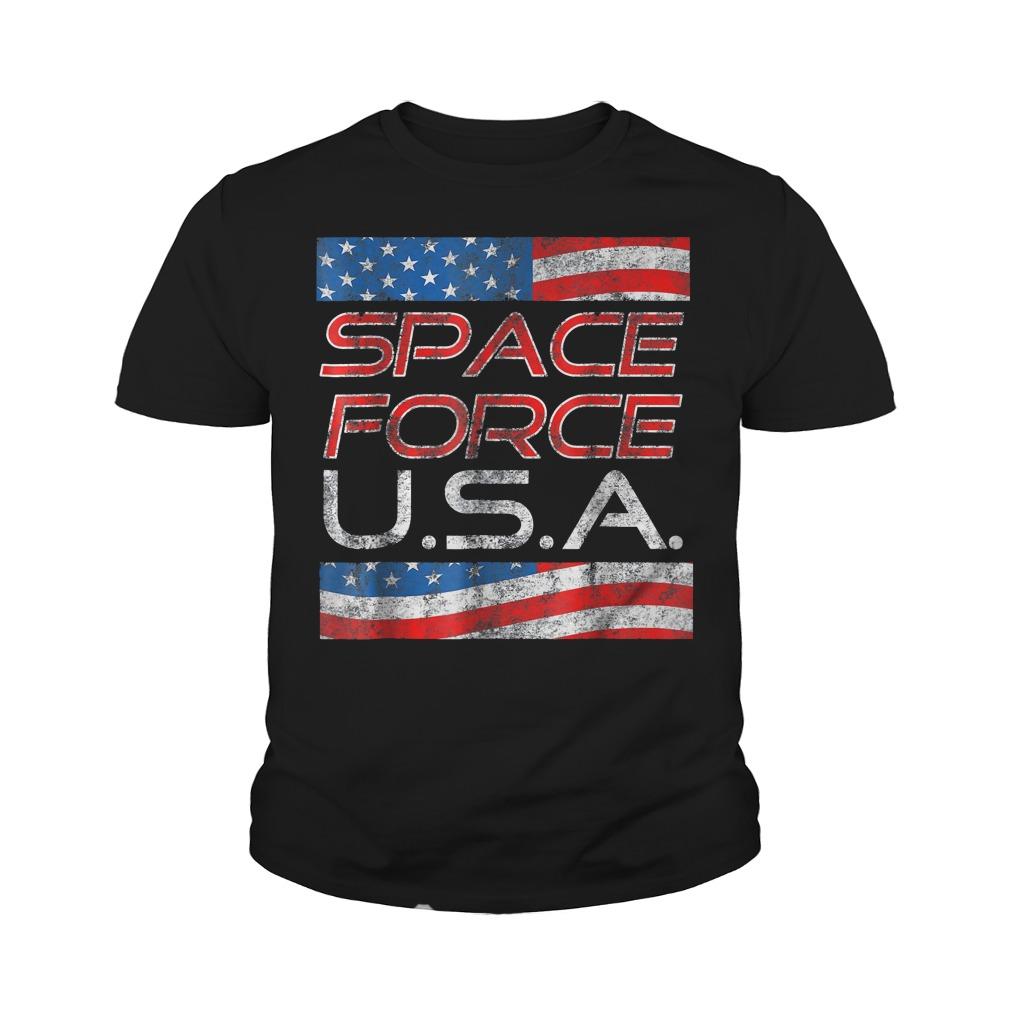 Space Force Vintage USA Trump Military Patriotic 2020 Youth Tee - Space Force Vintage USA Trump Military Patriotic 2020 T-Shirt