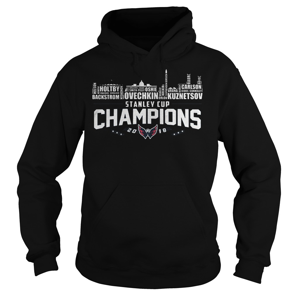Stanley Cup Champions Washington Capitals 2018 T Shirt Hoodie - Stanley Cup Champions Washington Capitals 2018 T-Shirt