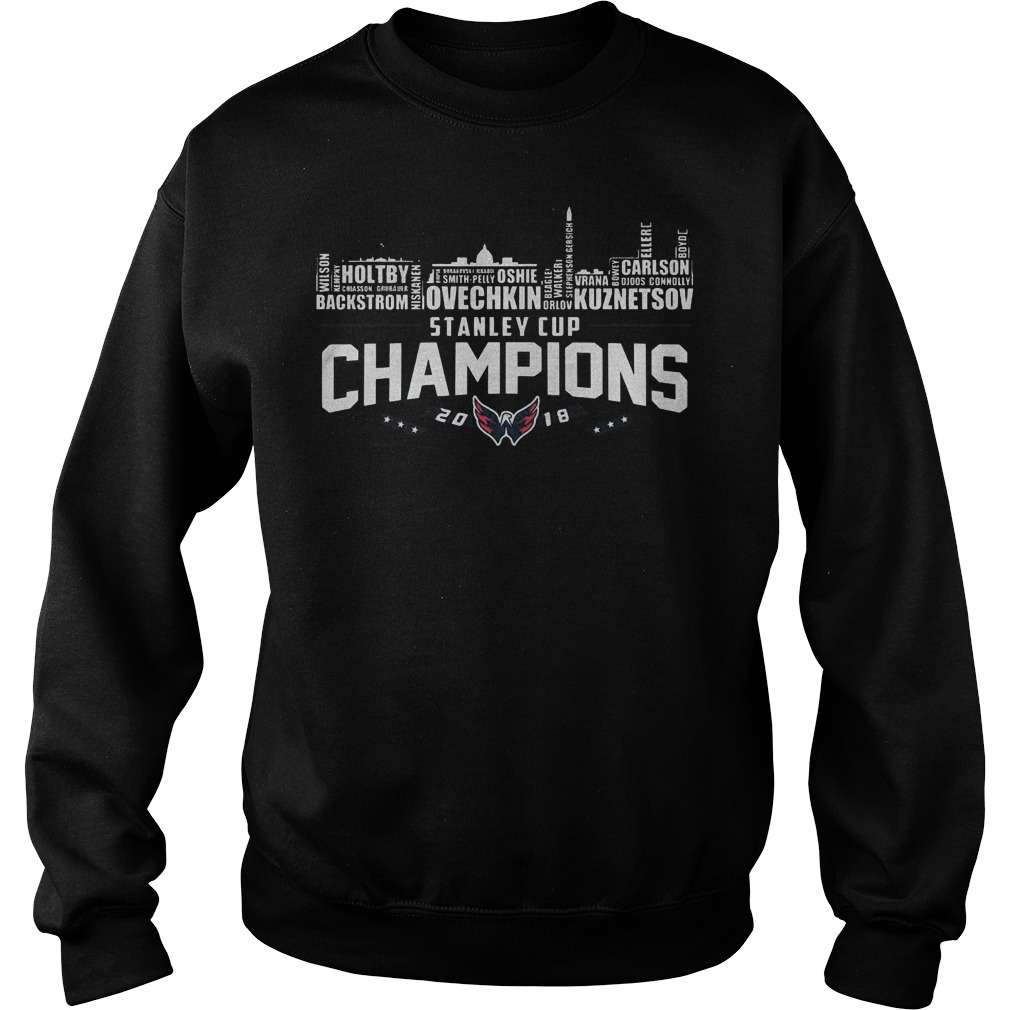 Stanley Cup Champions Washington Capitals 2018 T Shirt Sweat Shirt - Stanley Cup Champions Washington Capitals 2018 T-Shirt