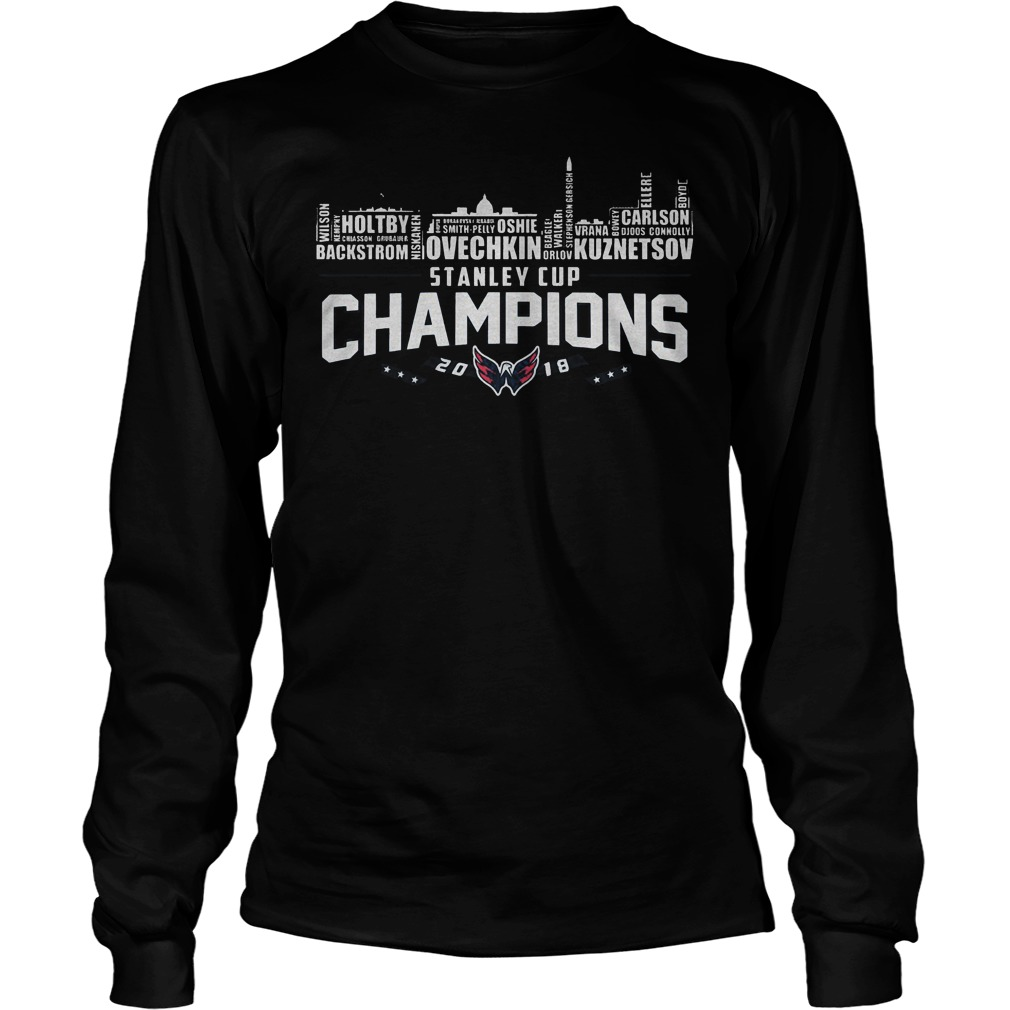 Stanley Cup Champions Washington Capitals 2018 T Shirt Unisex Longsleeve Tee - Stanley Cup Champions Washington Capitals 2018 T-Shirt