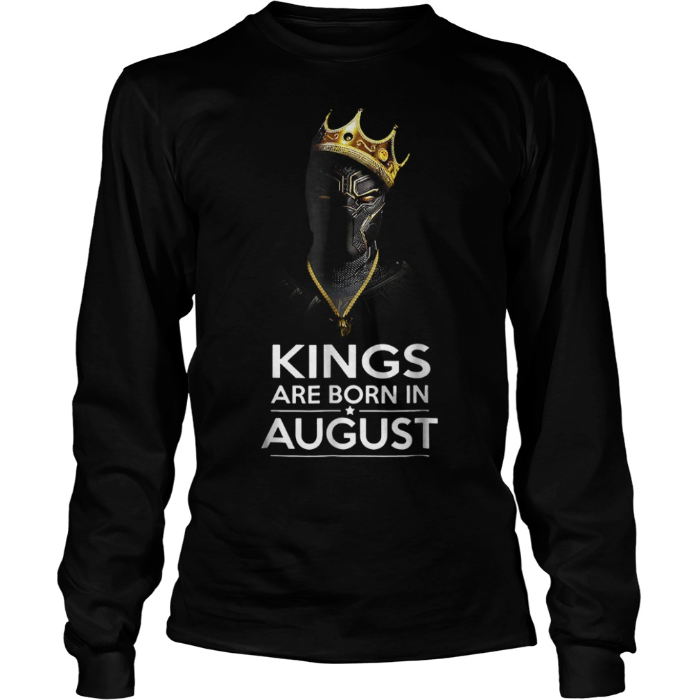Official Black Panther Kings Are Born August Shirt
