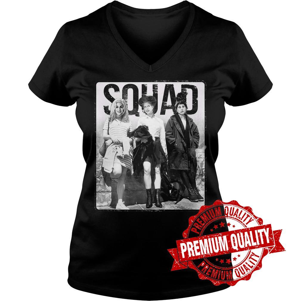 Official Hocus Pocus Squad shirt Ladies V Neck - Official Hocus Pocus Squad shirt