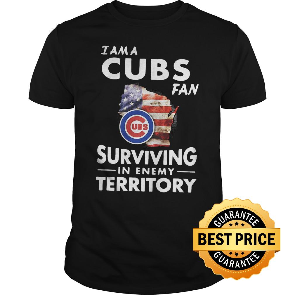 Official I am a Cubs fan surviving in enemy territory shirt