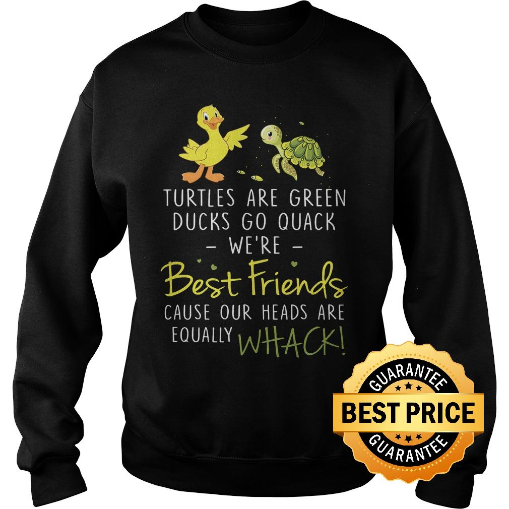 Official Turtles are green ducks go quack we re best friend cause our heads are equally whack Shirt Sweatshirt Unisex - Official Turtles are green ducks go quack we're best friend cause our heads are equally whack Shirt