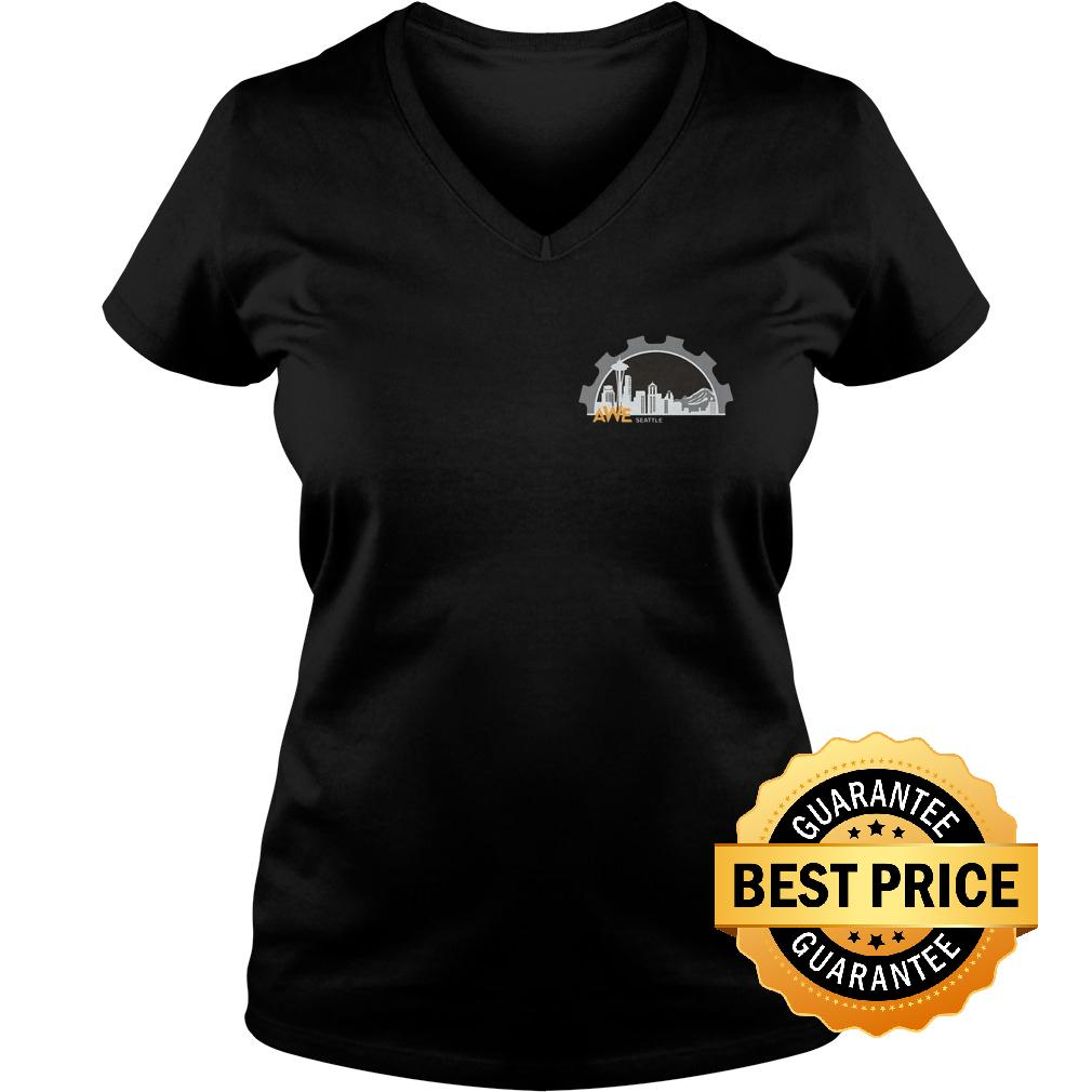 Official Women In Engineering Seattle Shirt Ladies V Neck - Official Women In Engineering Seattle Shirt
