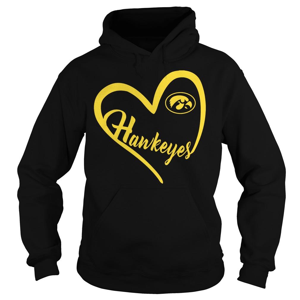 Original Iowa Hawkeyes football Heart Shirt Hoodie - Original Iowa Hawkeyes football Heart Shirt