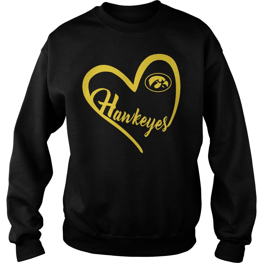 Original Iowa Hawkeyes football Heart Shirt Sweatshirt Unisex - Original Iowa Hawkeyes football Heart Shirt