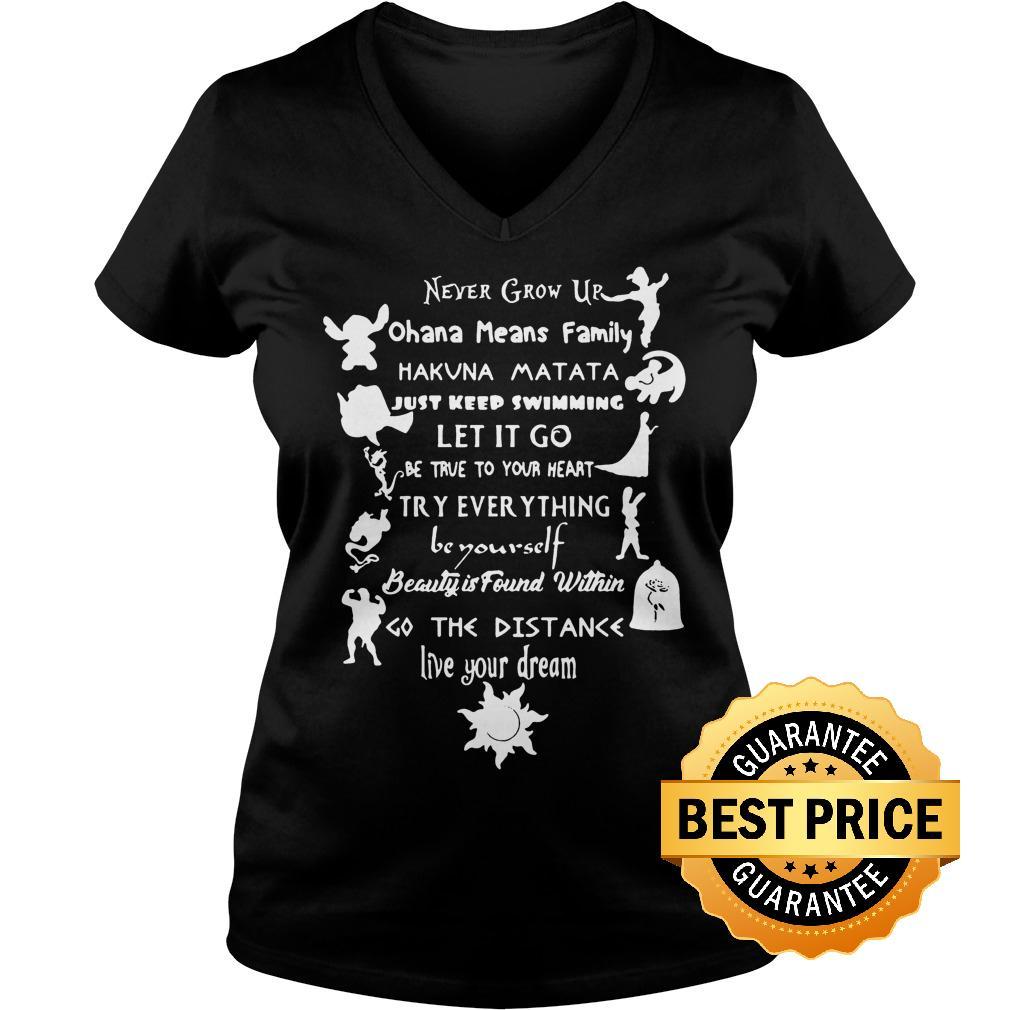 Premium 11 lessons Disney shirt Ladies V Neck - Premium 11 lessons Disney shirt