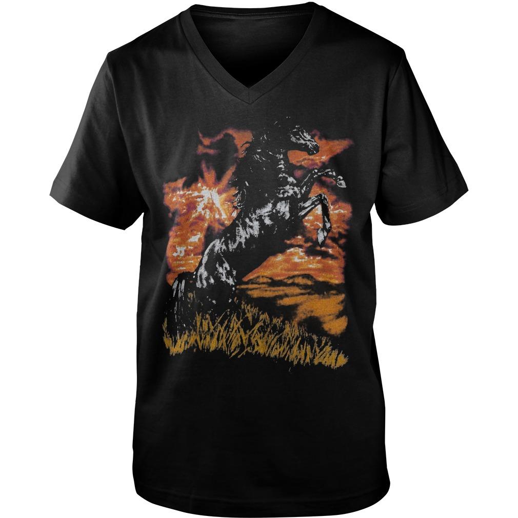 Premium Charlie Horse T Shirt Guys V Neck - Premium Charlie Horse T-Shirt