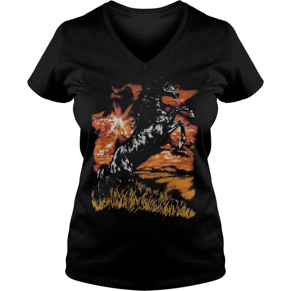 Premium Charlie Horse T Shirt Ladies V Neck - Premium Charlie Horse T-Shirt
