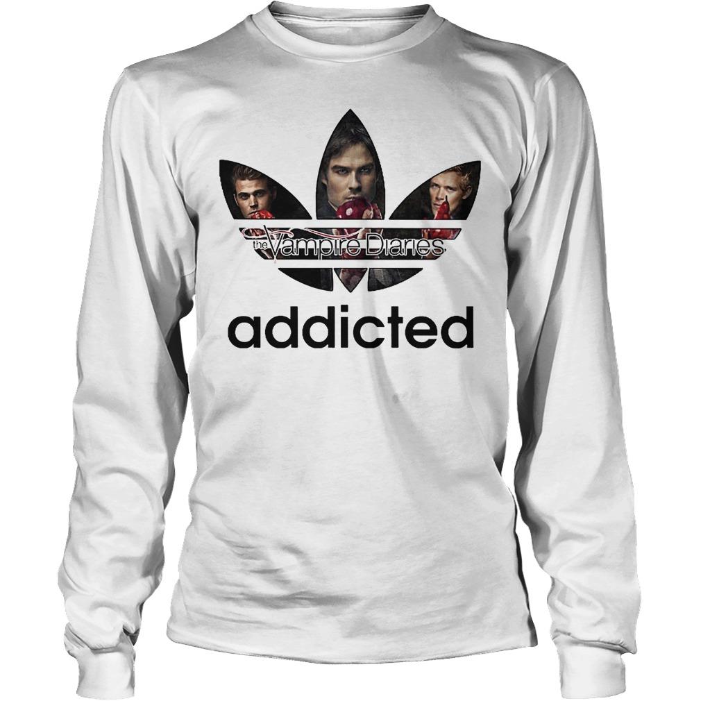 Premium Vampire Diaries Addicted Adidas Logo Shirt