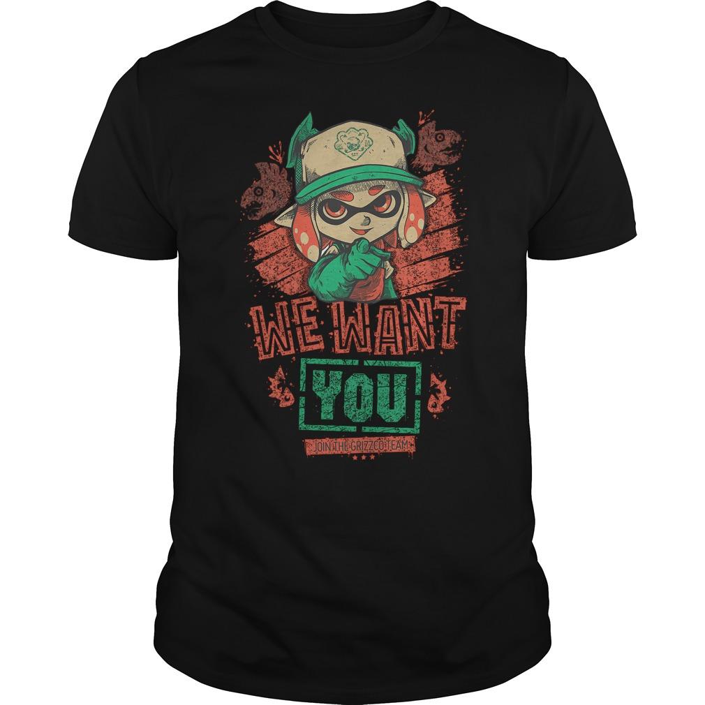 Premium We Want You T Shirt Classic Guys Unisex Tee - Premium We Want You T-Shirt