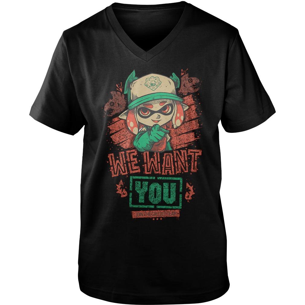 Premium We Want You T Shirt Guys V Neck - Premium We Want You T-Shirt