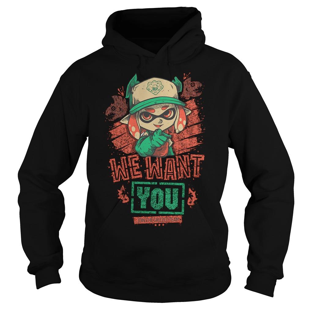 Premium We Want You T Shirt Hoodie - Premium We Want You T-Shirt