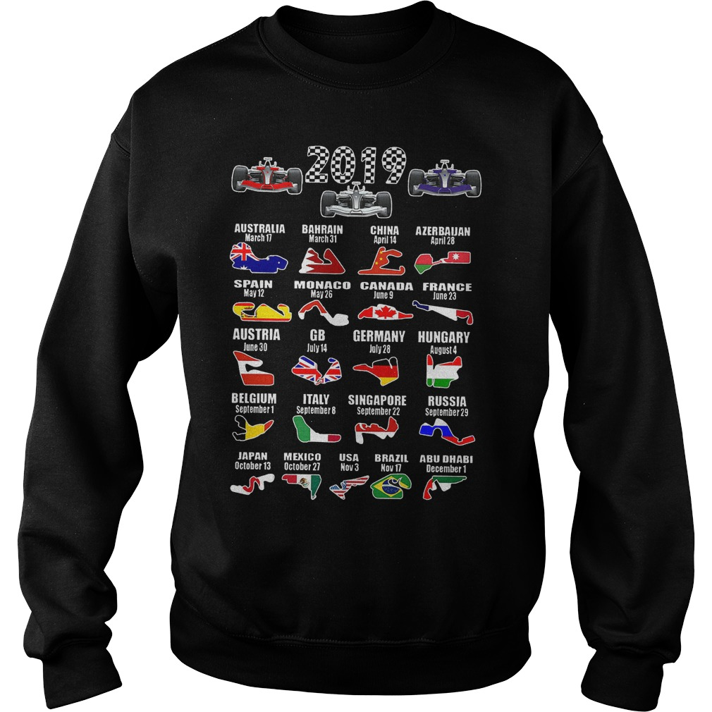 2019 Racing Calendar Shirt Sweatshirt Unisex - 2019 Racing Calendar Shirt