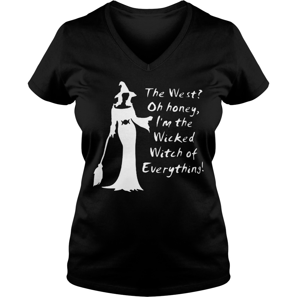 Halloween I m the wicked witch of everything shirt Ladies V Neck - Halloween I'm the wicked witch of everything shirt