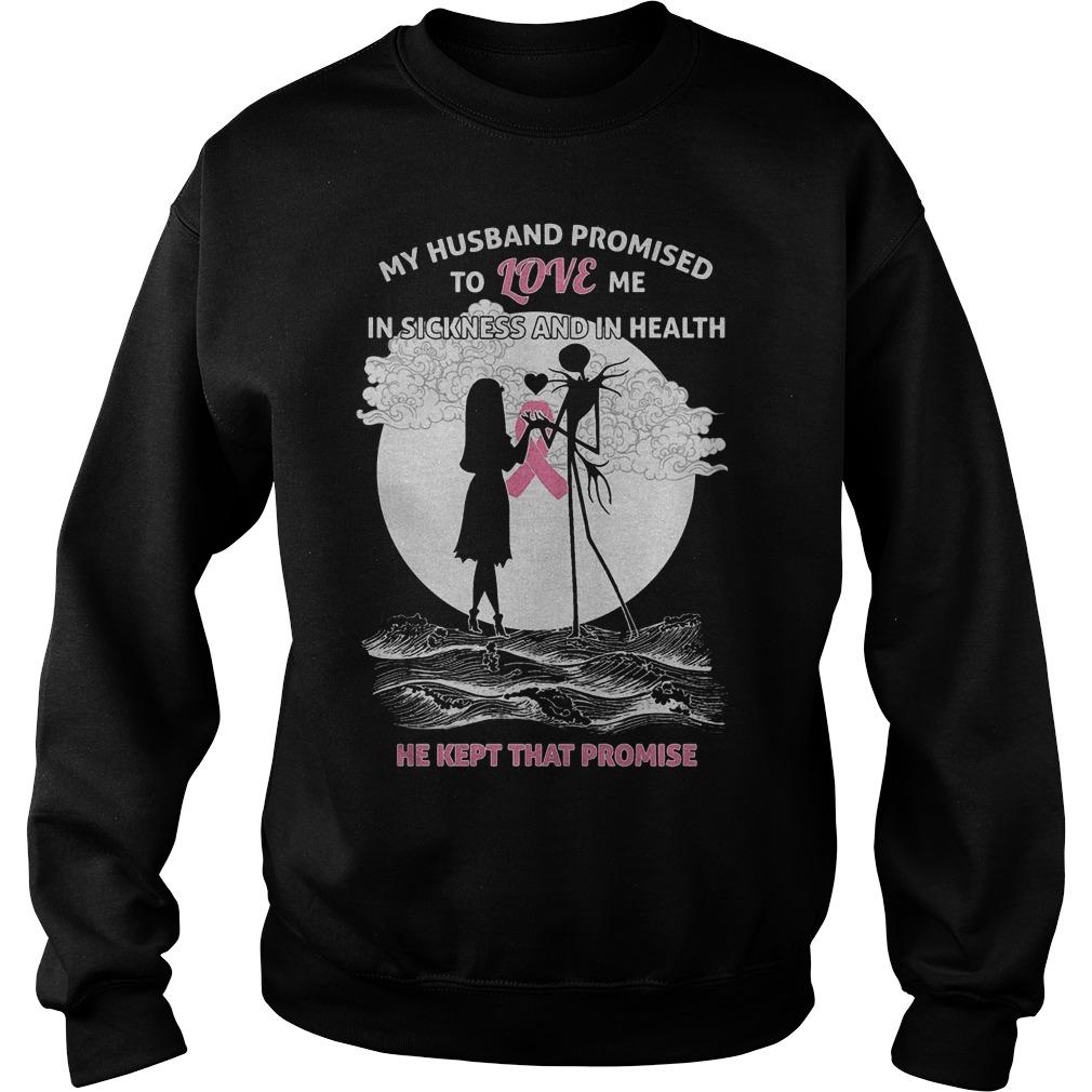 Jack Skellington and Sally Breast Cancer promised to love Shirt Sweatshirt Unisex 1 - Jack Skellington and Sally Breast Cancer promised to love Shirt