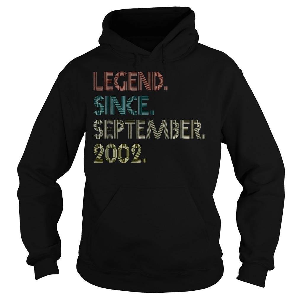 Legend since september 2002 shirt Hoodie - Legend since september 2002 shirt
