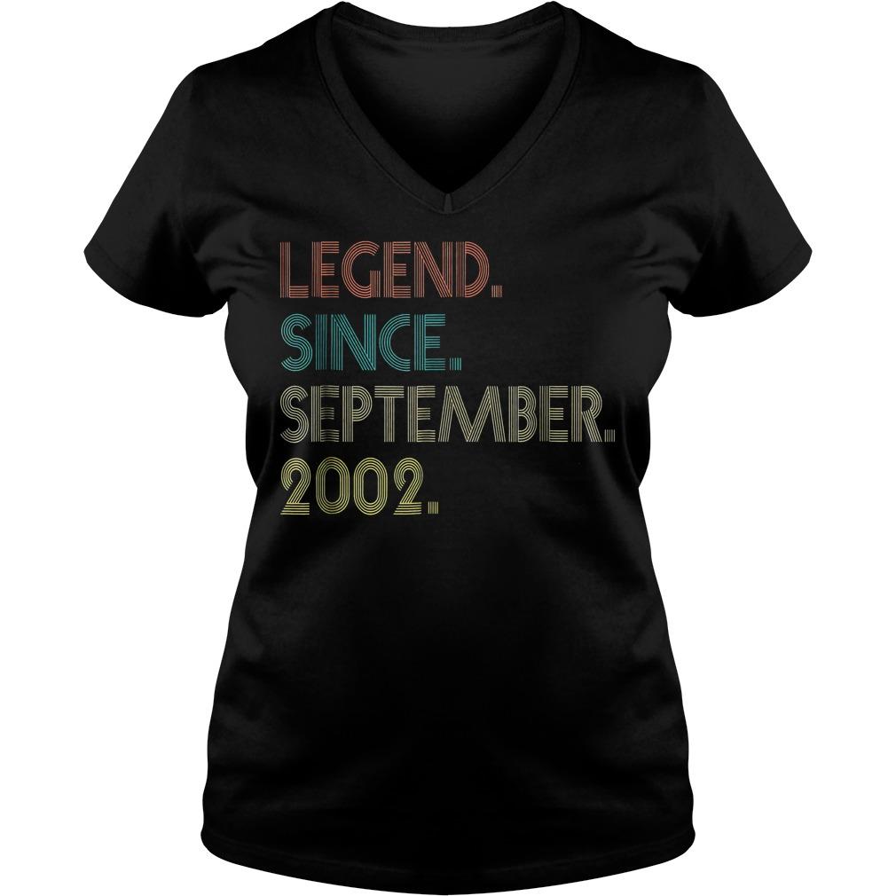 Legend since september 2002 shirt Ladies V Neck - Legend since september 2002 shirt