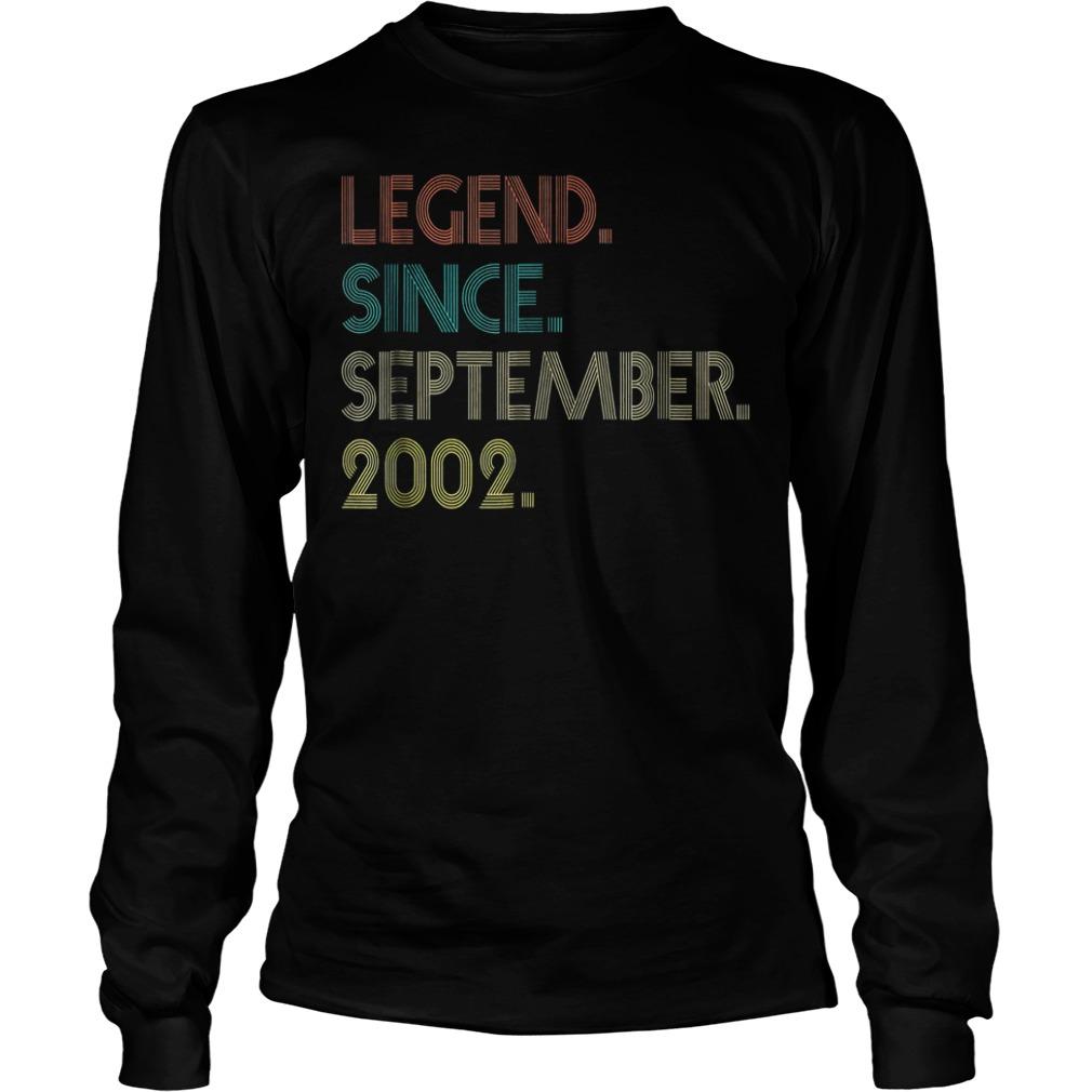 Legend since september 2002 shirt Longsleeve Tee Unisex - Legend since september 2002 shirt