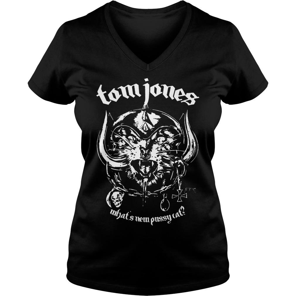 Metal Cat tomjones what s new pussy cat Shirt Ladies V Neck - Metal Cat tomjones what's new pussy cat Shirt