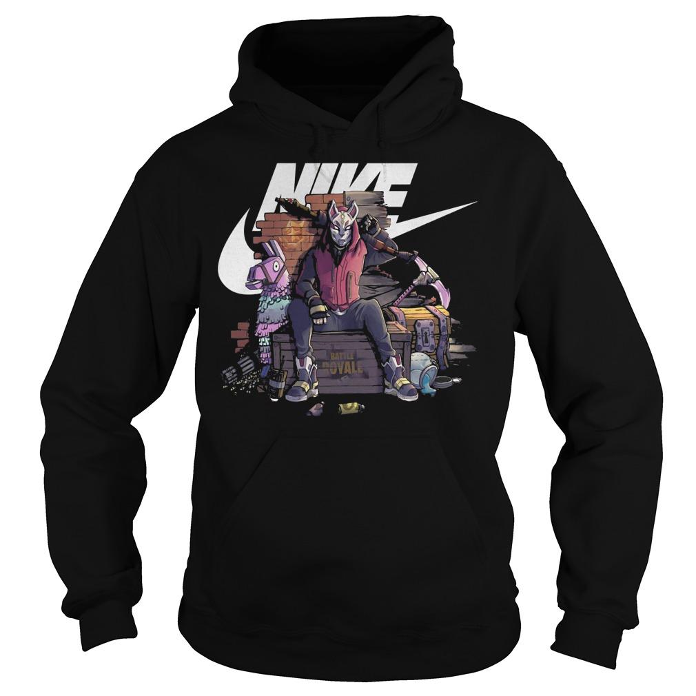 Nike fortnite Drift battle royale shirt Hoodie - Nike fortnite Drift battle royale shirt