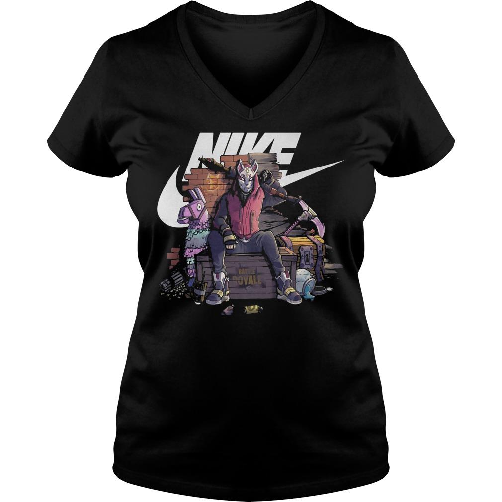 Nike fortnite Drift battle royale shirt Ladies V Neck - Nike fortnite Drift battle royale shirt