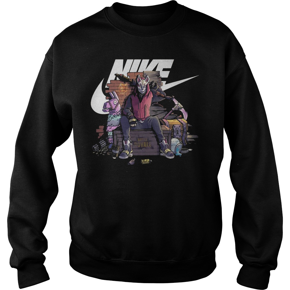 Nike fortnite Drift battle royale shirt Sweatshirt Unisex - Nike fortnite Drift battle royale shirt