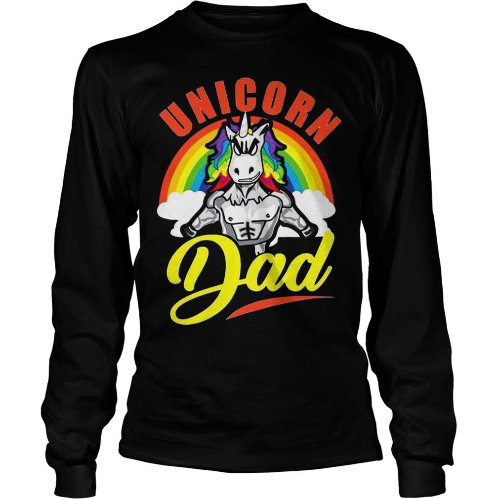 Unicorn dad Shirt Longsleeve Tee Unisex - Unicorn dad Shirt