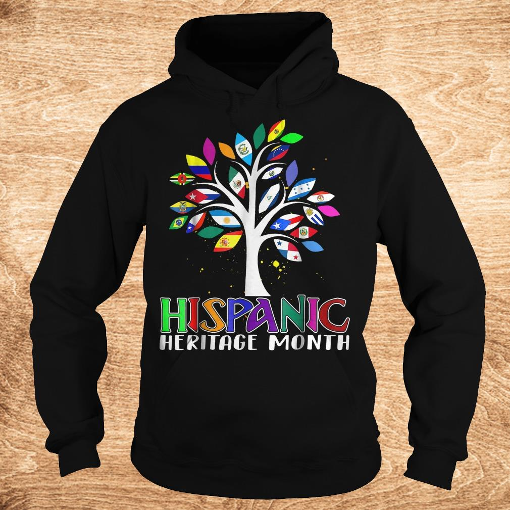 Best Price National Hispanic heritage month tree flag shirt Hoodie - Best Price National Hispanic heritage month tree flag shirt