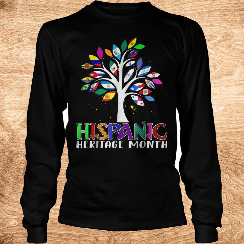 Best Price National Hispanic heritage month tree flag shirt Longsleeve Tee Unisex - Best Price National Hispanic heritage month tree flag shirt